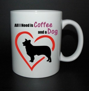 hrnek All I need is coffee and a dog - border kolie