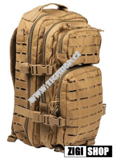 Batoh ASSAULT pack US 20l molle coyote SM laser cut Miltec