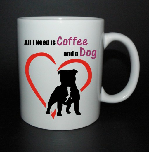 hrnek All I need is coffee and a dog - staffbull